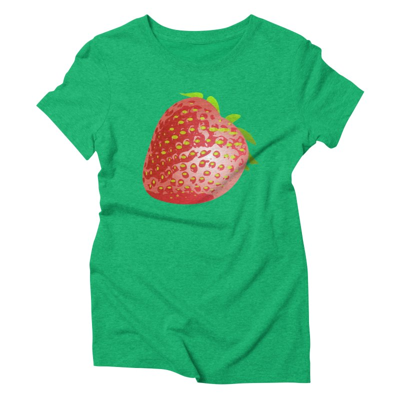 STRAWBERRY Women's Triblend T-Shirt by THE ORANGE ZEROMAX STREET COUTURE