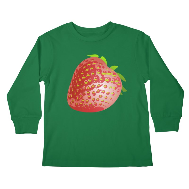 STRAWBERRY Kids Longsleeve T-Shirt by THE ORANGE ZEROMAX STREET COUTURE
