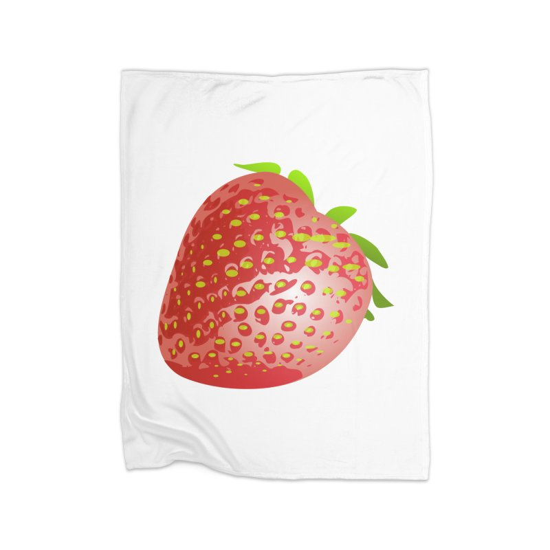 STRAWBERRY Home Blanket by THE ORANGE ZEROMAX STREET COUTURE