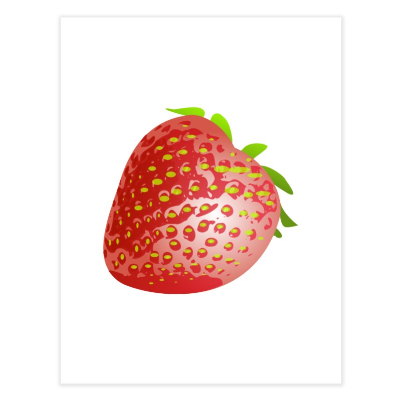 STRAWBERRY Home Fine Art Print by THE ORANGE ZEROMAX STREET COUTURE