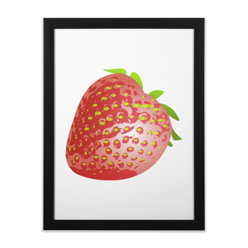 STRAWBERRY Home Framed Fine Art Print by THE ORANGE ZEROMAX STREET COUTURE