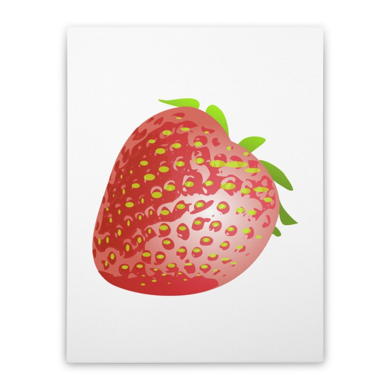 STRAWBERRY Home Stretched Canvas by THE ORANGE ZEROMAX STREET COUTURE