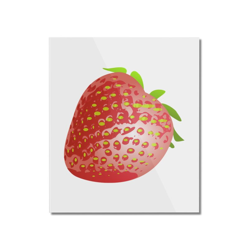 STRAWBERRY Home Mounted Acrylic Print by THE ORANGE ZEROMAX STREET COUTURE