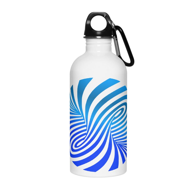 RETRO ROUNDS Accessories Water Bottle by THE ORANGE ZEROMAX STREET COUTURE