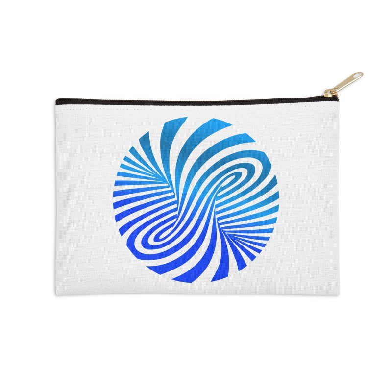 RETRO ROUNDS Accessories Zip Pouch by THE ORANGE ZEROMAX STREET COUTURE
