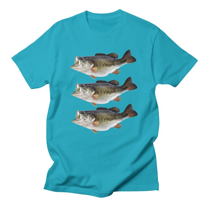 LARGE MOUTH BASS FISH in Men's Regular T-Shirt Cyan by THE ORANGE ZEROMAX STREET COUTURE