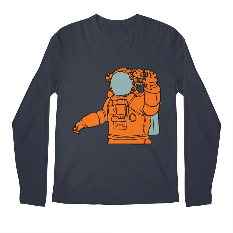 COSMONAUT Men's Longsleeve T-Shirt by THE ORANGE ZEROMAX STREET COUTURE