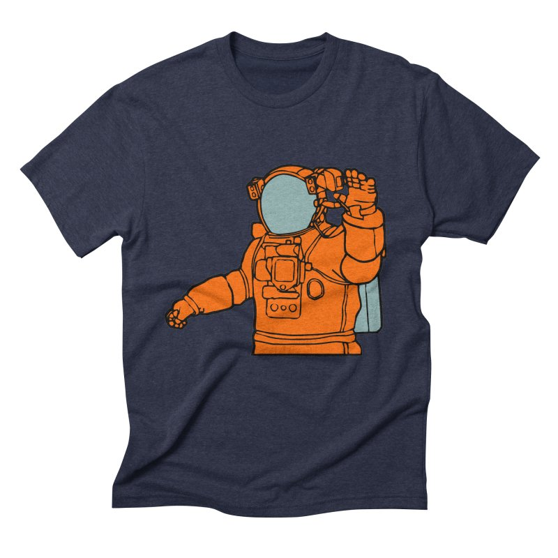 COSMONAUT Men's Triblend T-Shirt by THE ORANGE ZEROMAX STREET COUTURE
