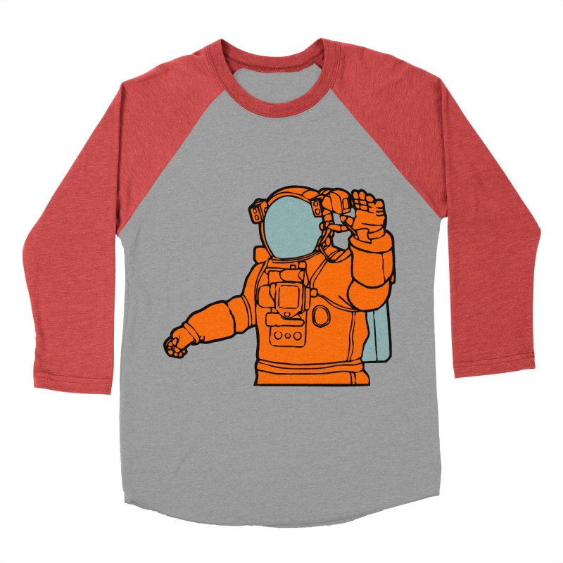 COSMONAUT Women's Baseball Triblend T-Shirt by THE ORANGE ZEROMAX STREET COUTURE