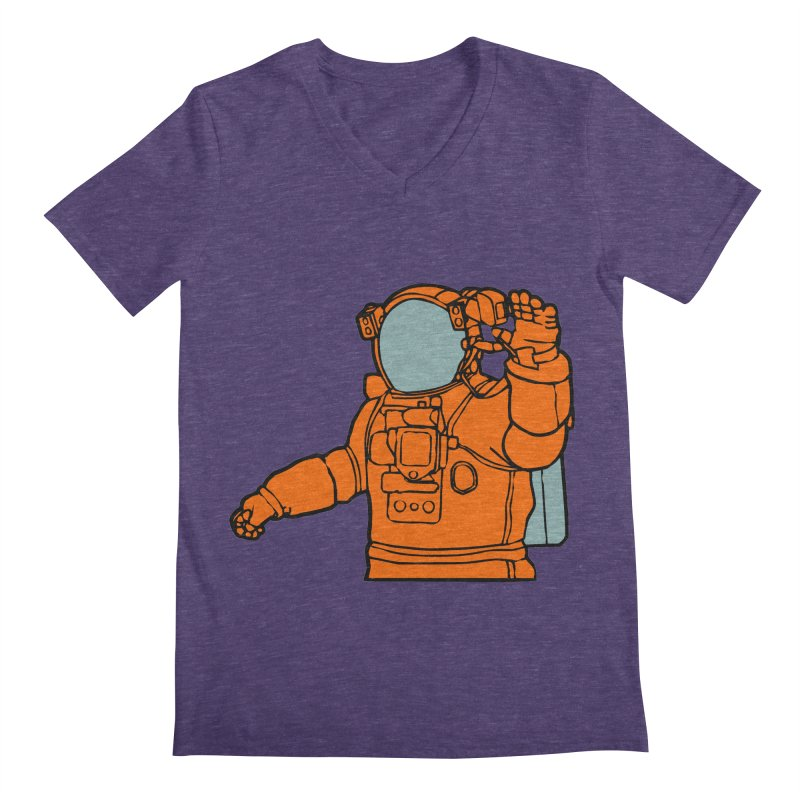 COSMONAUT Men's V-Neck by THE ORANGE ZEROMAX STREET COUTURE