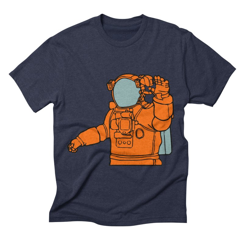 COSMONAUT Men's Triblend T-shirt by THE ORANGE ZEROMAX STREET COUTURE