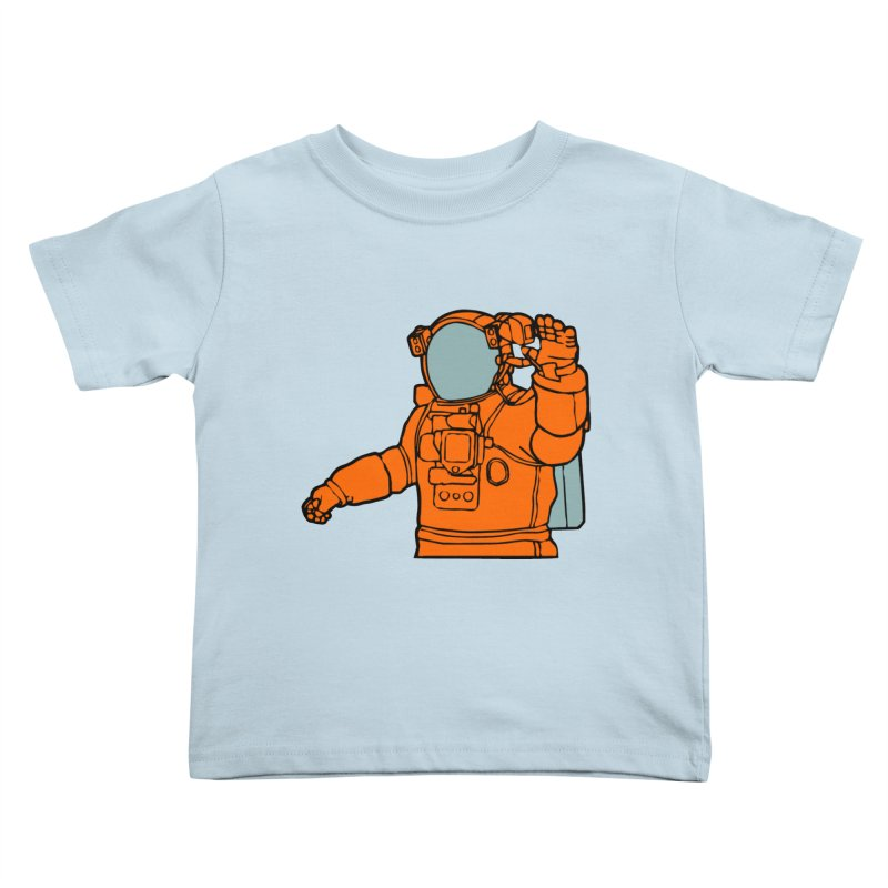 COSMONAUT Kids Toddler T-Shirt by THE ORANGE ZEROMAX STREET COUTURE