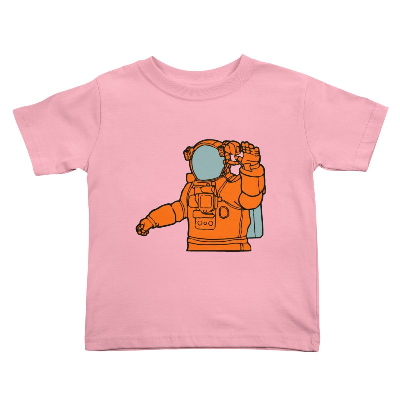 COSMONAUT Kids Toddler T-Shirt by THE ORANGE ZEROMAX STREET COUTURE