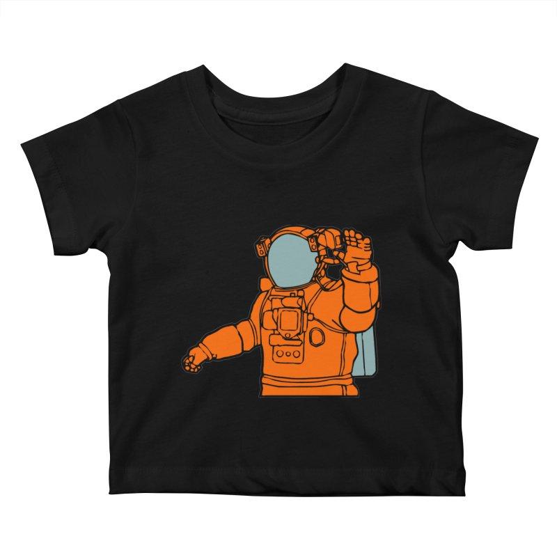 COSMONAUT Kids Baby T-Shirt by THE ORANGE ZEROMAX STREET COUTURE