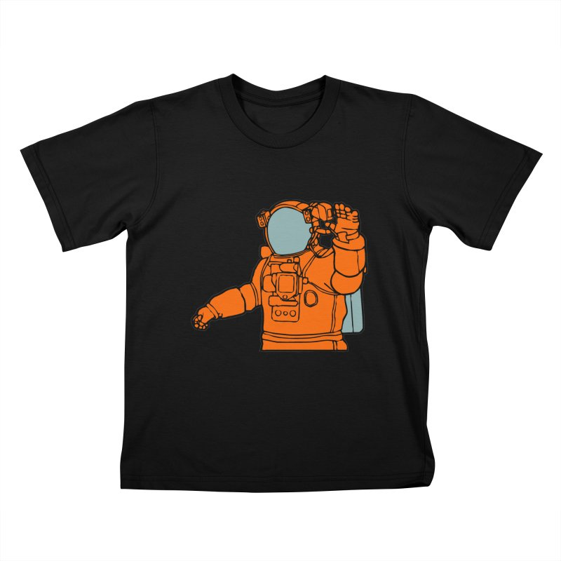 COSMONAUT Kids T-Shirt by THE ORANGE ZEROMAX STREET COUTURE