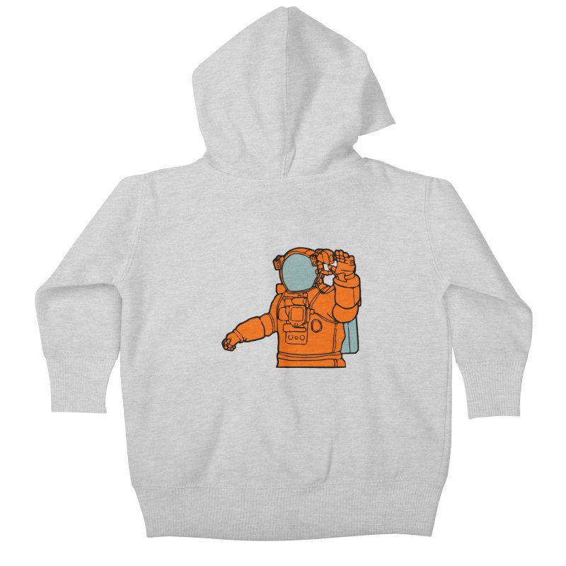 COSMONAUT Kids Baby Zip-Up Hoody by THE ORANGE ZEROMAX STREET COUTURE