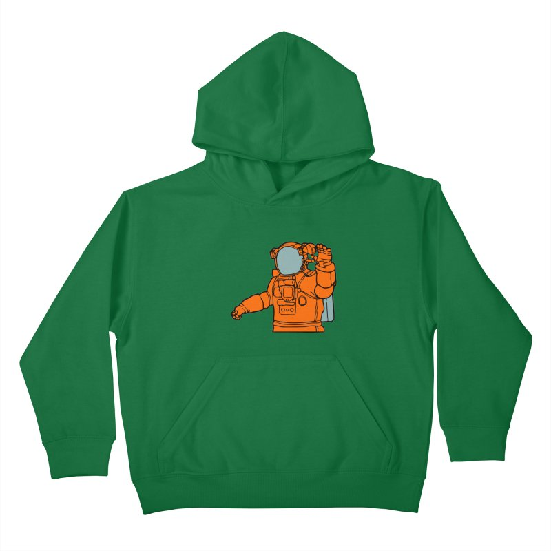COSMONAUT Kids Pullover Hoody by THE ORANGE ZEROMAX STREET COUTURE