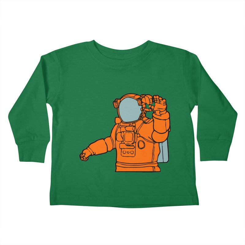 COSMONAUT Kids Toddler Longsleeve T-Shirt by THE ORANGE ZEROMAX STREET COUTURE