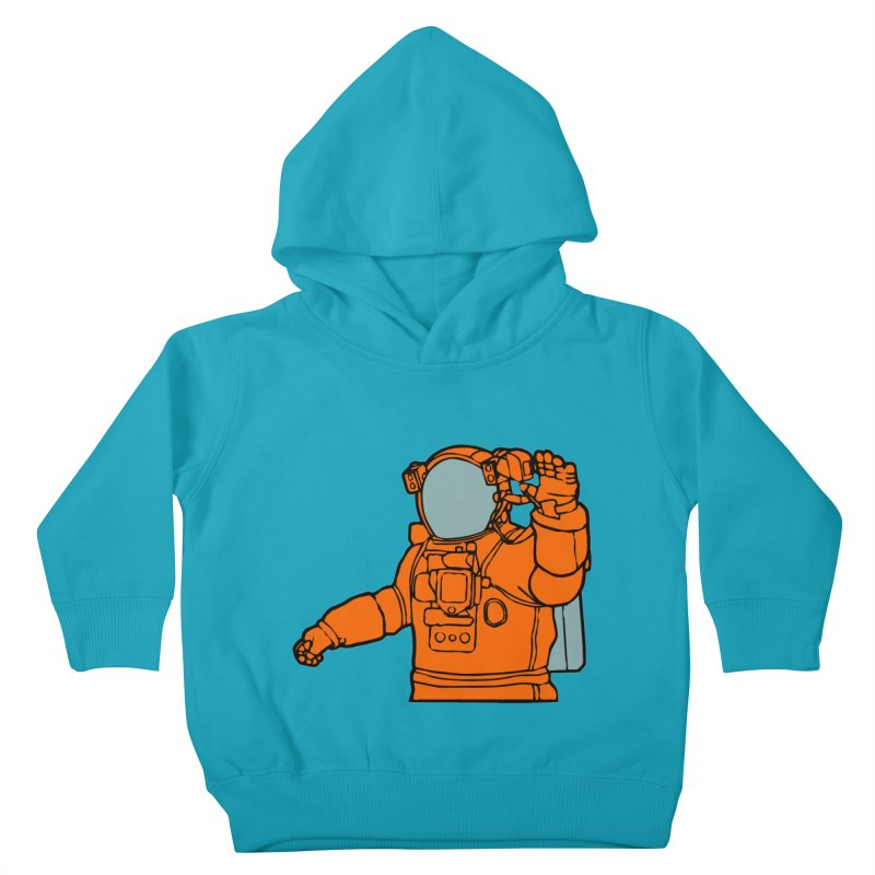 COSMONAUT Kids Toddler Pullover Hoody by THE ORANGE ZEROMAX STREET COUTURE