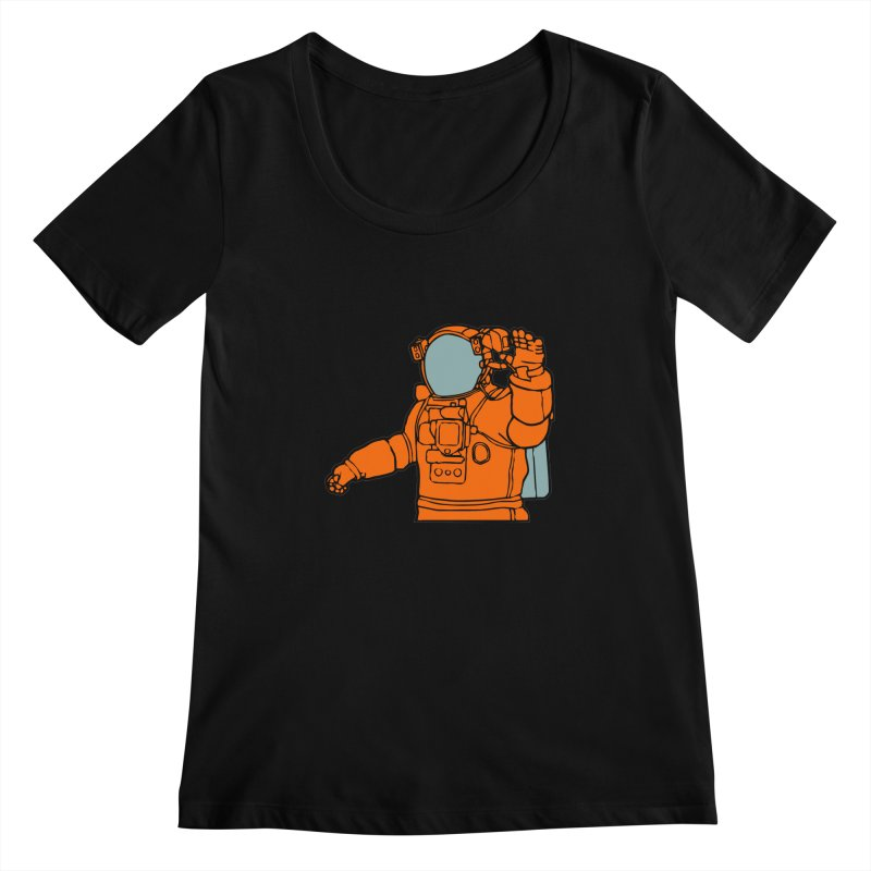 COSMONAUT Women's Scoopneck by THE ORANGE ZEROMAX STREET COUTURE
