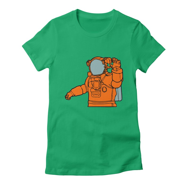 COSMONAUT Women's Fitted T-Shirt by THE ORANGE ZEROMAX STREET COUTURE