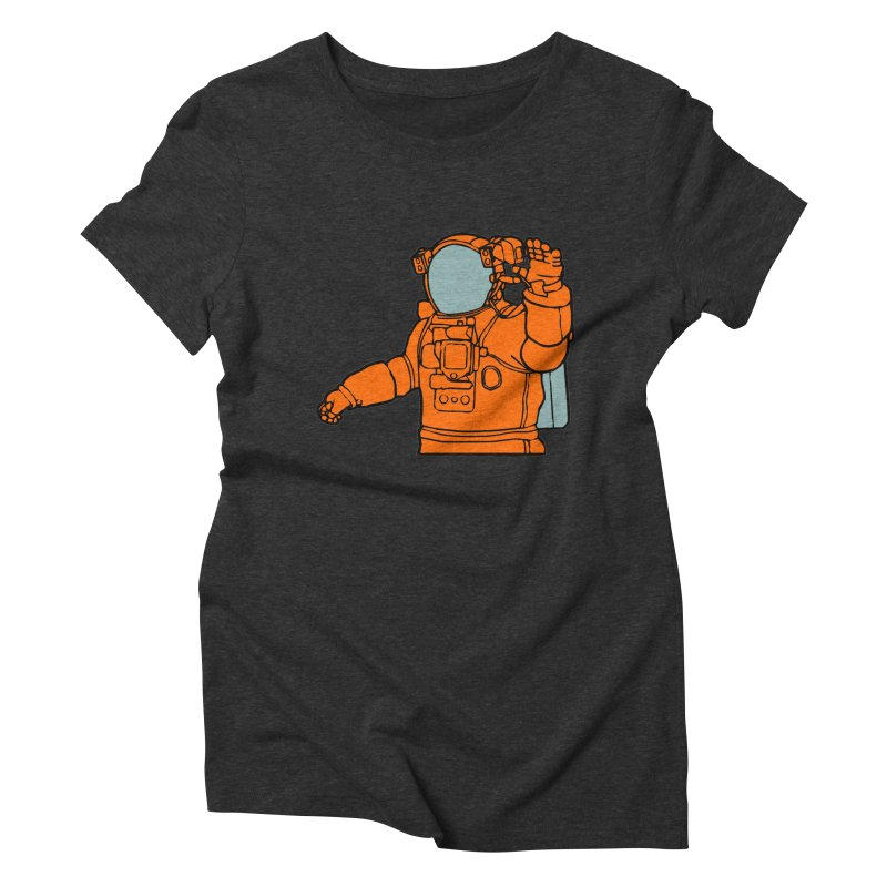 COSMONAUT Women's Triblend T-Shirt by THE ORANGE ZEROMAX STREET COUTURE