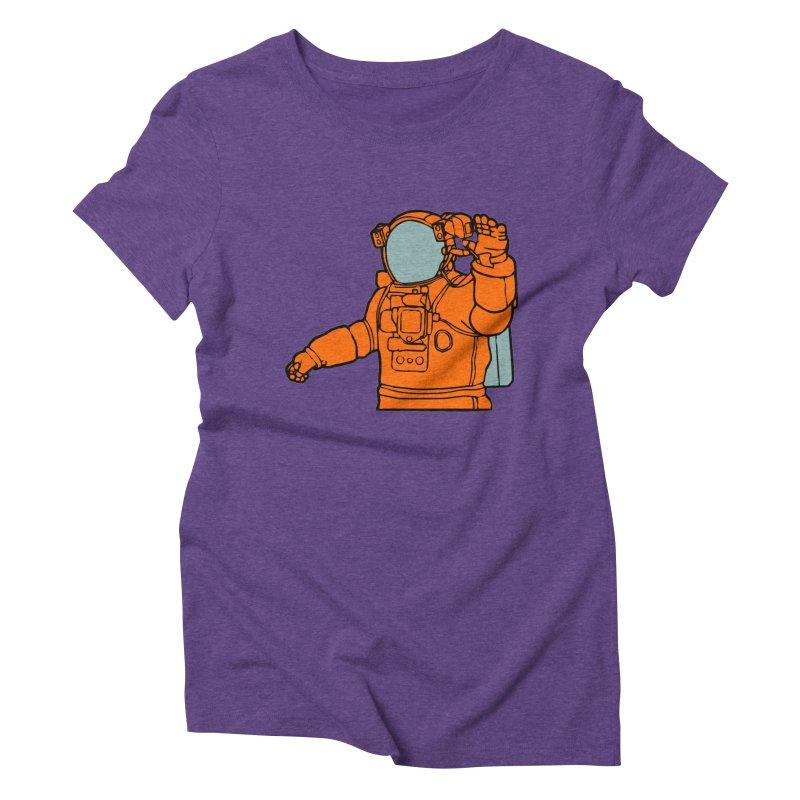 COSMONAUT Women's Triblend T-shirt by THE ORANGE ZEROMAX STREET COUTURE