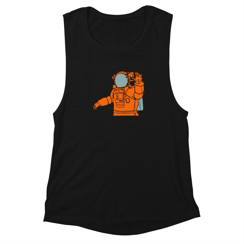 COSMONAUT Women's Muscle Tank by THE ORANGE ZEROMAX STREET COUTURE