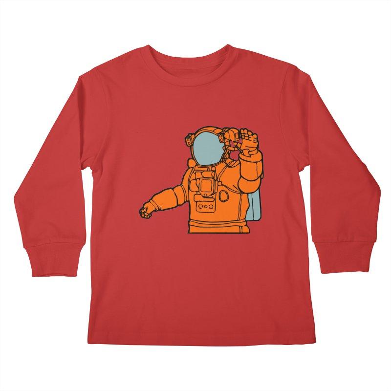 COSMONAUT Kids Longsleeve T-Shirt by THE ORANGE ZEROMAX STREET COUTURE
