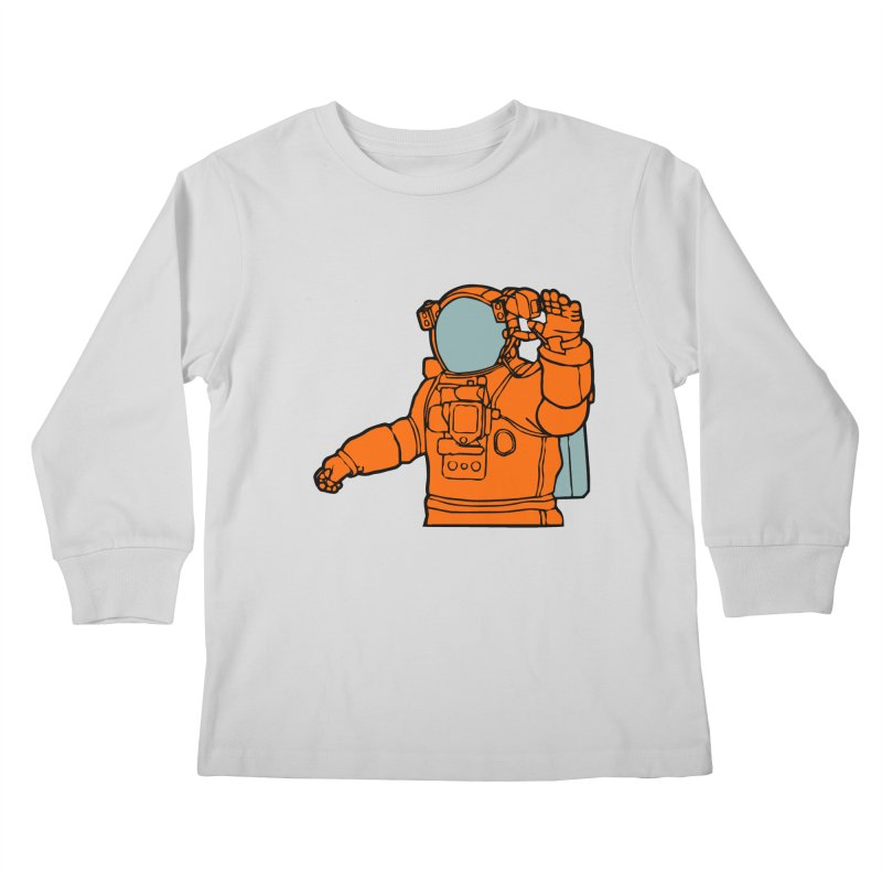 COSMONAUT Kids Longsleeve T-Shirt by THE ORANGE ZEROMAX STREET COUTURE