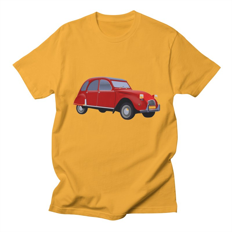 VOITURE in Men's Regular T-Shirt Gold by THE ORANGE ZEROMAX STREET COUTURE