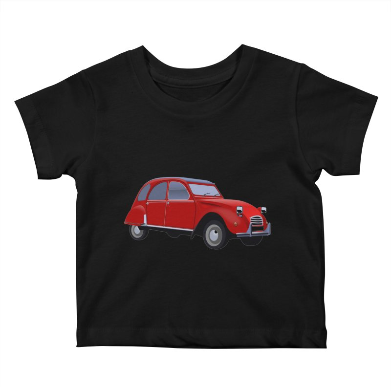 VOITURE Kids Baby T-Shirt by THE ORANGE ZEROMAX STREET COUTURE
