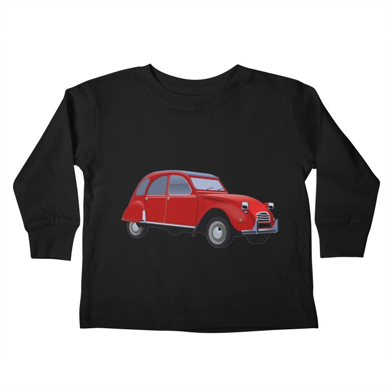 VOITURE Kids Toddler Longsleeve T-Shirt by THE ORANGE ZEROMAX STREET COUTURE