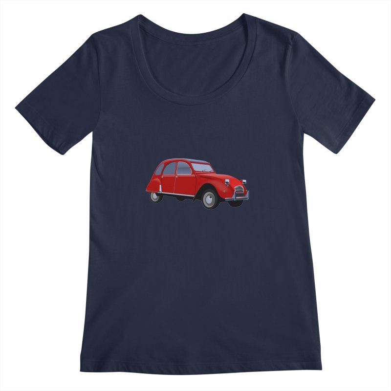 VOITURE Women's Scoopneck by THE ORANGE ZEROMAX STREET COUTURE