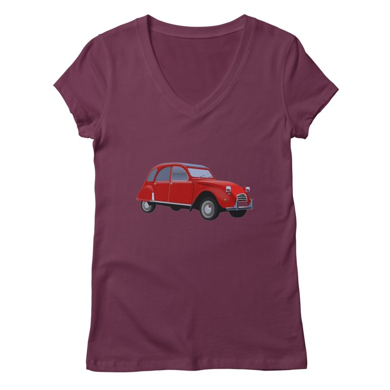 VOITURE Women's V-Neck by THE ORANGE ZEROMAX STREET COUTURE