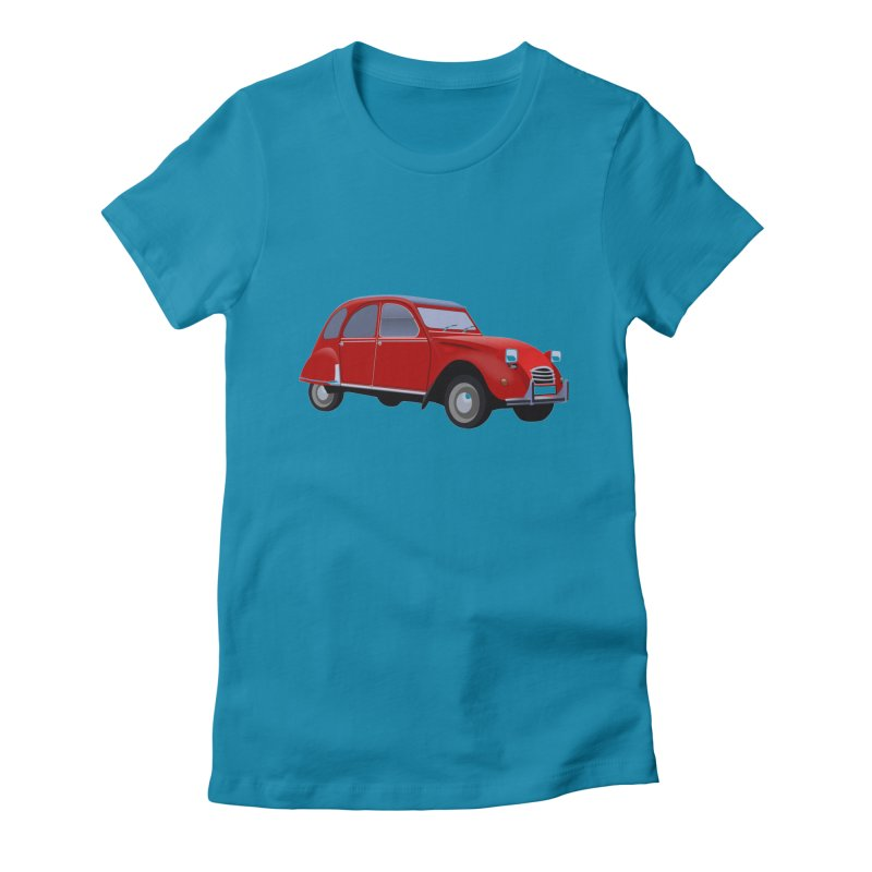 VOITURE Women's Fitted T-Shirt by THE ORANGE ZEROMAX STREET COUTURE