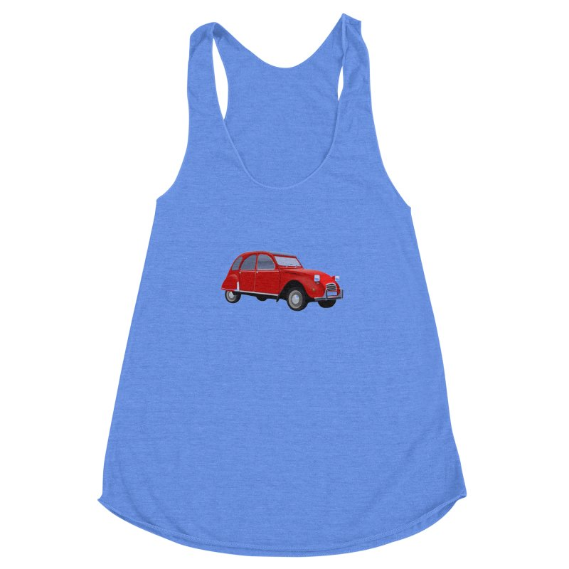 VOITURE Women's Racerback Triblend Tank by THE ORANGE ZEROMAX STREET COUTURE
