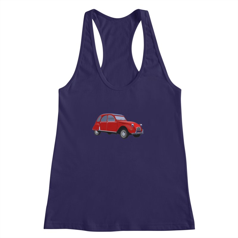 VOITURE Women's Racerback Tank by THE ORANGE ZEROMAX STREET COUTURE