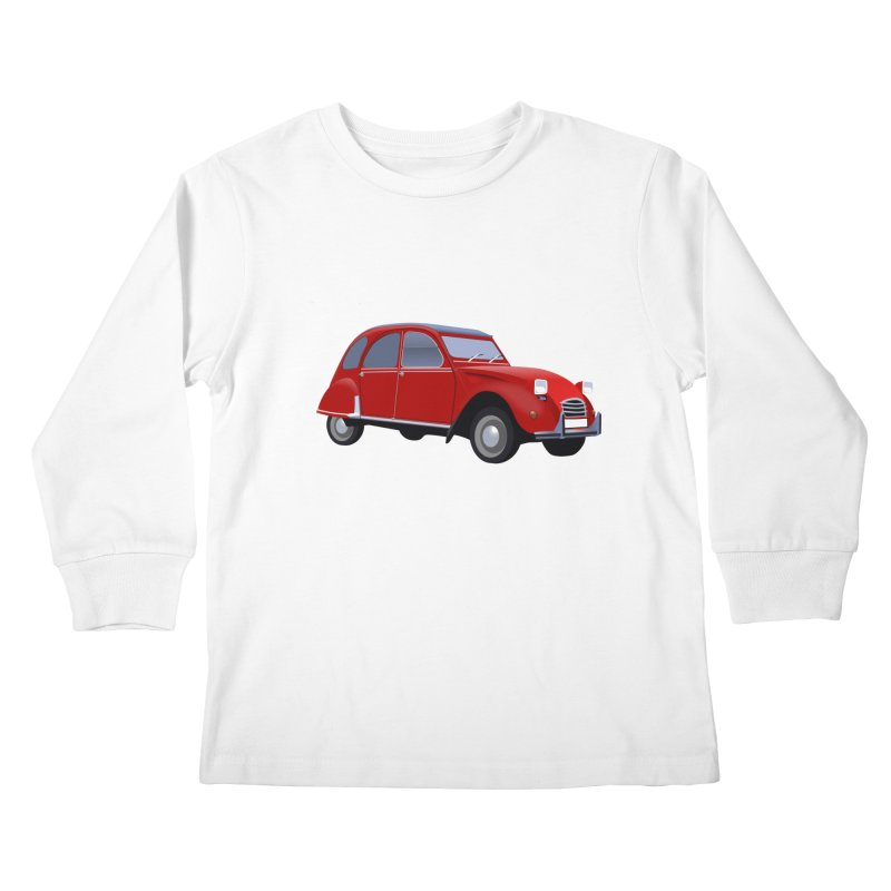 VOITURE Kids Longsleeve T-Shirt by THE ORANGE ZEROMAX STREET COUTURE
