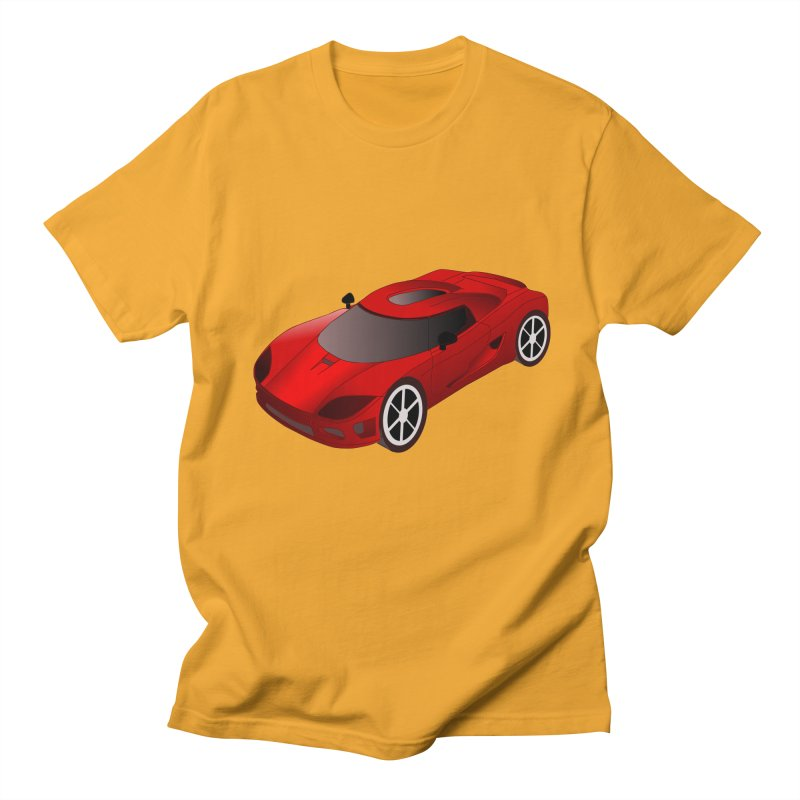 VOITURE-2 in Men's Regular T-Shirt Gold by THE ORANGE ZEROMAX STREET COUTURE