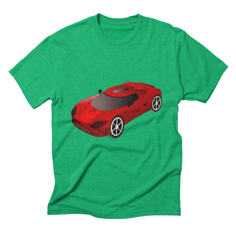 VOITURE-2 Men's Triblend T-shirt by THE ORANGE ZEROMAX STREET COUTURE