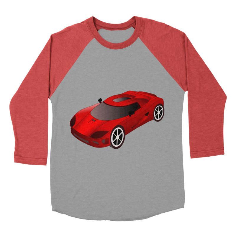 VOITURE-2 Men's Baseball Triblend T-Shirt by THE ORANGE ZEROMAX STREET COUTURE