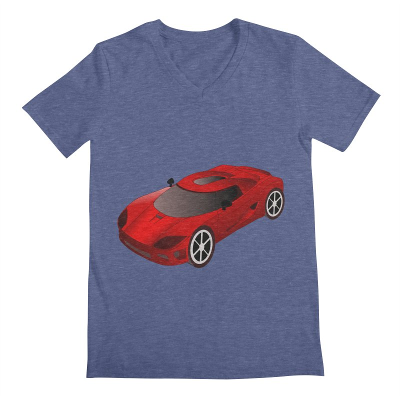 VOITURE-2 Men's V-Neck by THE ORANGE ZEROMAX STREET COUTURE