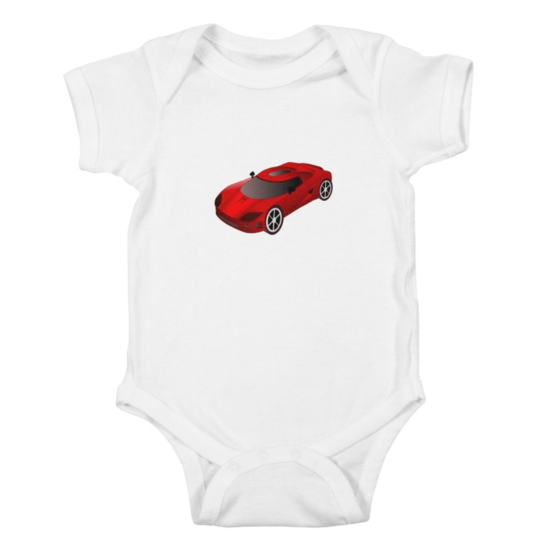 VOITURE-2 Kids Baby Bodysuit by THE ORANGE ZEROMAX STREET COUTURE