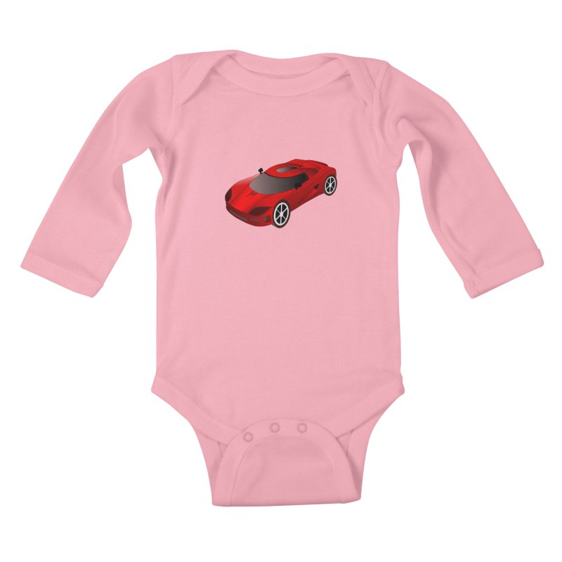 VOITURE-2 Kids Baby Longsleeve Bodysuit by THE ORANGE ZEROMAX STREET COUTURE