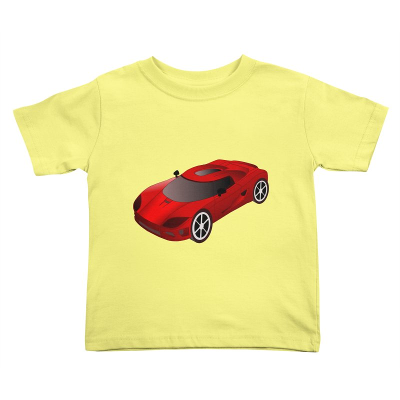 VOITURE-2 Kids Toddler T-Shirt by THE ORANGE ZEROMAX STREET COUTURE