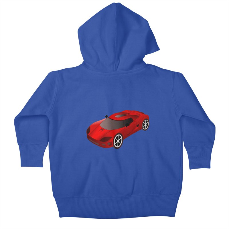 VOITURE-2 Kids Baby Zip-Up Hoody by THE ORANGE ZEROMAX STREET COUTURE