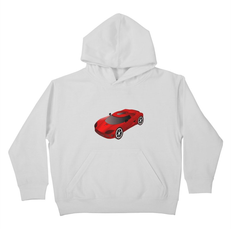 VOITURE-2 Kids Pullover Hoody by THE ORANGE ZEROMAX STREET COUTURE