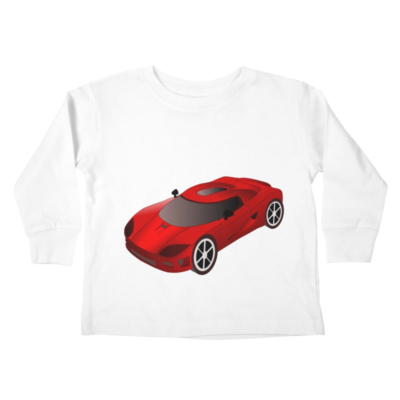 VOITURE-2 Kids Toddler Longsleeve T-Shirt by THE ORANGE ZEROMAX STREET COUTURE
