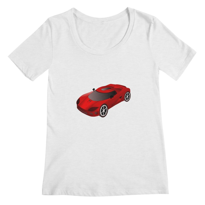 VOITURE-2 Women's Scoopneck by THE ORANGE ZEROMAX STREET COUTURE